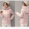 Autumn Winter Long Women's Coats With Hood Fashion Ladies Padded Puffer Jacket Parkas For Women