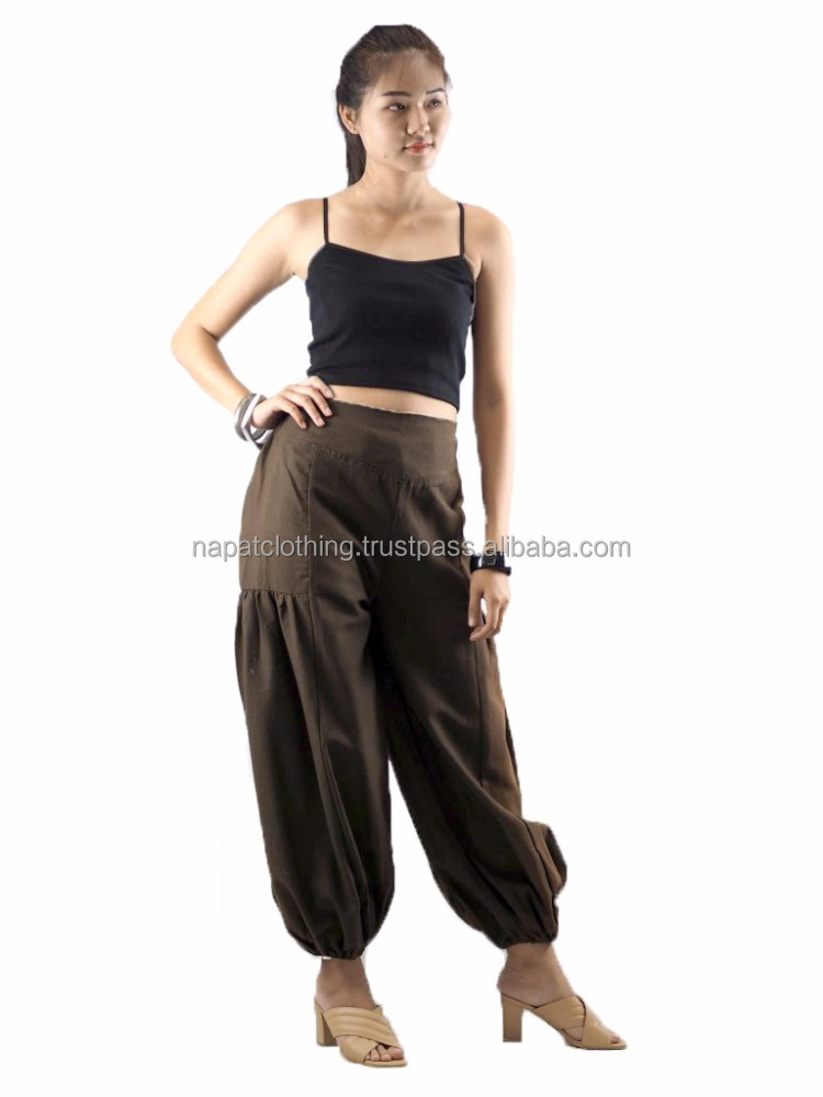 Napat Clothing New Design top quality Harem waist Elastic on the back Pants Cotton Free Size