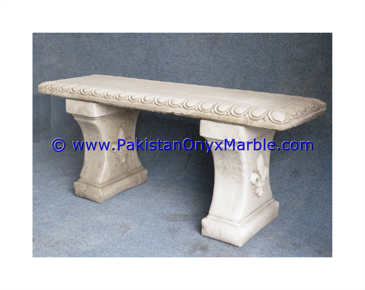 DECORATIVE CUSTOM DESIGN MARBLE BENCHES