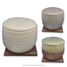 Cost-effective and Durable pottery boild-rice container with rice scoop , board created by Japan