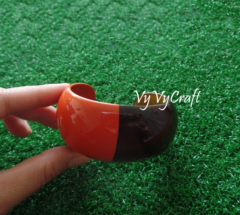 Nice Color High Quality Buffalo Horn Jewelry, Cuff Bracelet VC-122_RED COLOR LACQUER