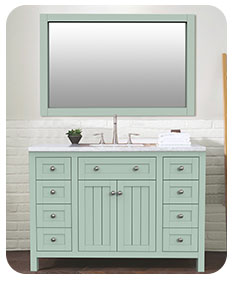 Lapley-48  48 inch american style freestanding single basin bathroom vanity
