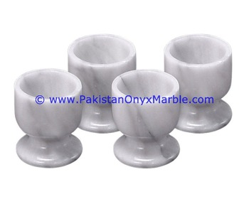 EXPORT QUALITY MARBLE WINE GLASSES GOBLETS SET GRAY GENUINE