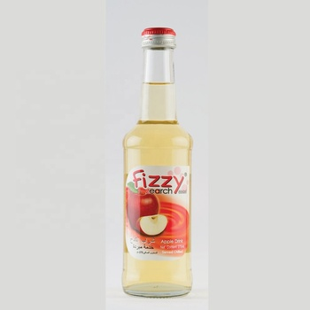 Fruit Drink Juice Apple Sparkling Glass bottle 275ml Fizzy