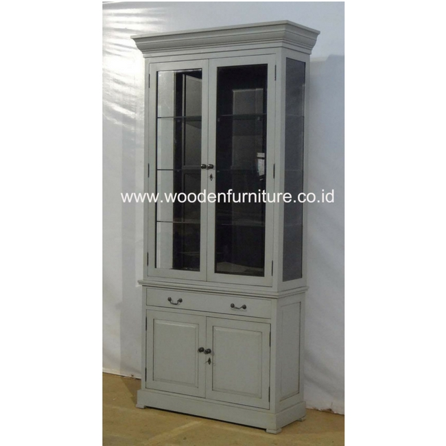 Antique Showcase Indonesia Furniture Jepara Furniture Classic Display Cabinet