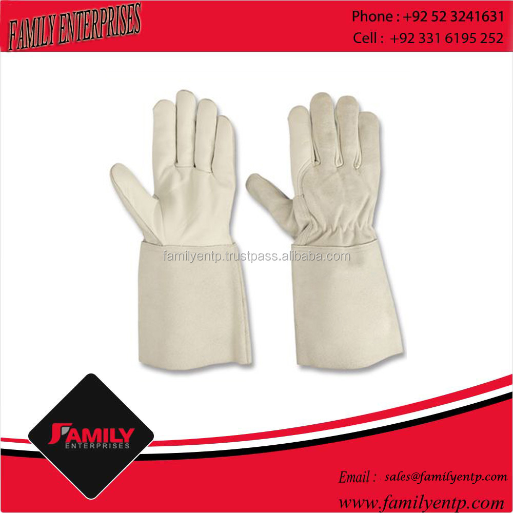 Durable Cowhide Genuine Leather Tig Welding Gloves For Hand Protection