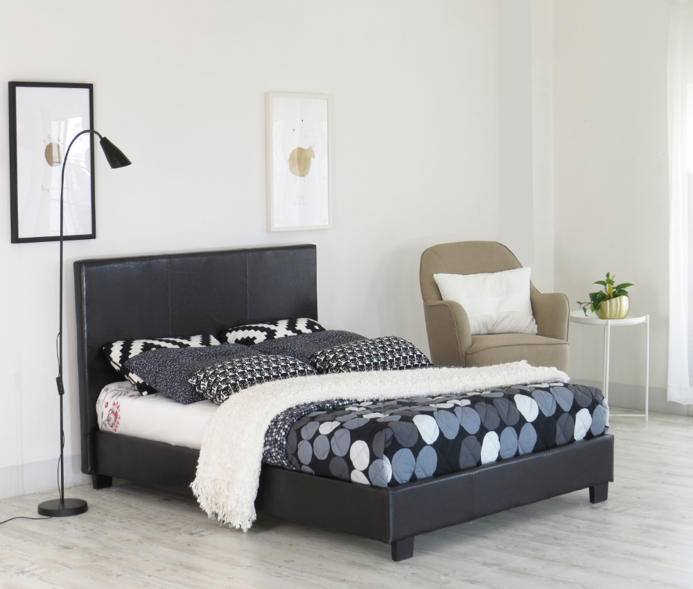 Faux Leather Fabric of 2019 Prado Bed in Box Designer Furniture