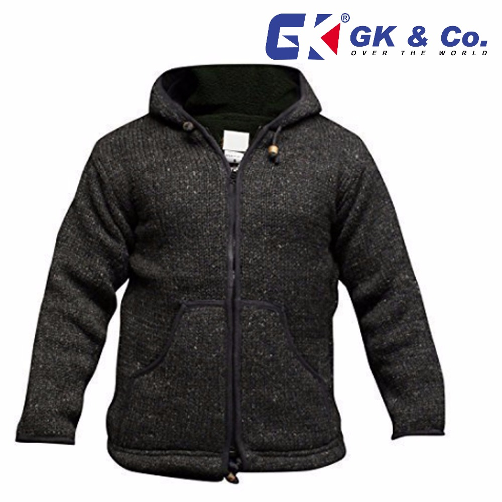 Woolen jacket from Nepal-100%woolen jacket-Hand knitted jacket