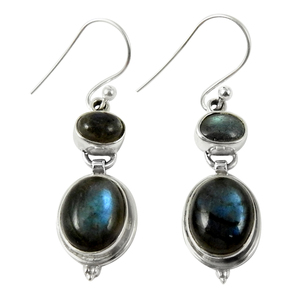 Drop dead gorgeous design blue labradorite dangle earring 925 sterling silver jewelry supplier