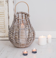 Hurricane Floor vase Design Bamboo wooden candle lantern