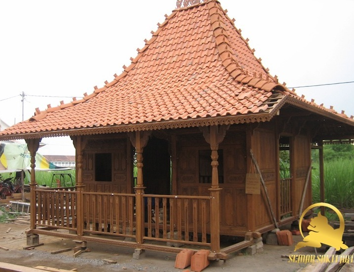 Exotic indonesia Traditional Mini Joglo House Prefabricated with Teak Solid Teak Wood material