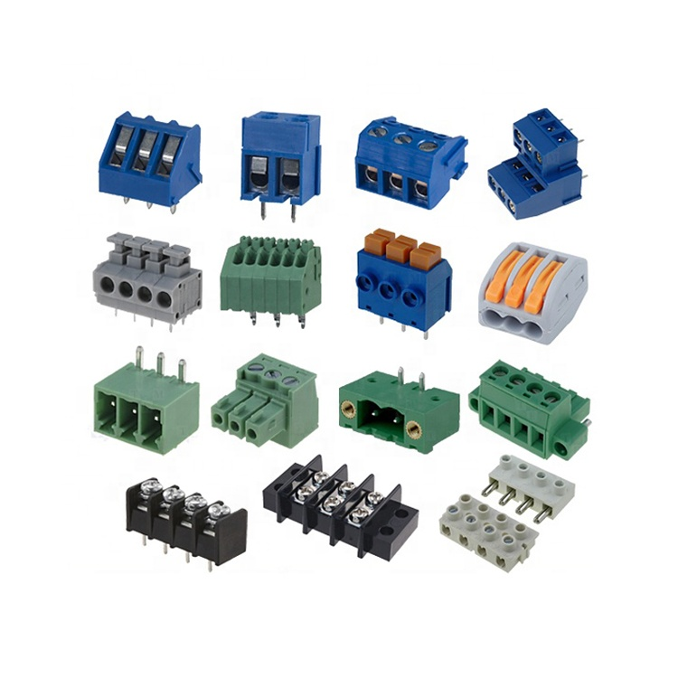 3.5mm and 3.81mm pitch 2 3 4 5 6 7 8 9 10 12 14 16 18 20 pin way pole screw clamp terminal block