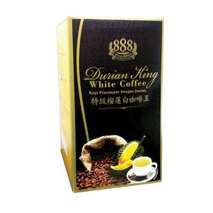 888 3 in 1 Instant Durian King White Coffee (30g x 10Sachets ) (24Boxes x 1Carton)
