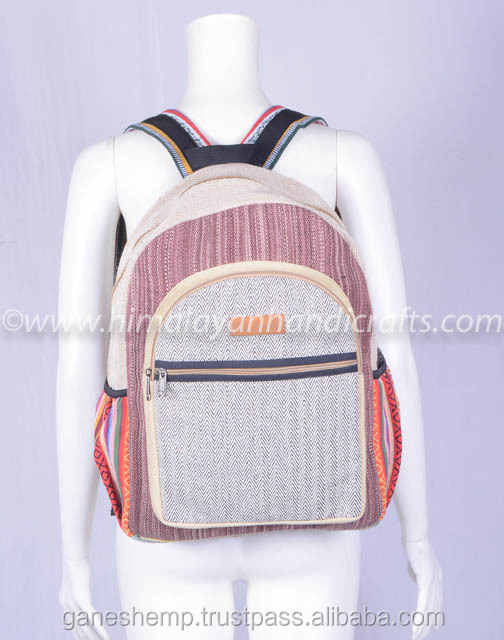 Natural Handmade Unisex Canvas Boho Style Backpack School Laptop BagHBBH 0055a