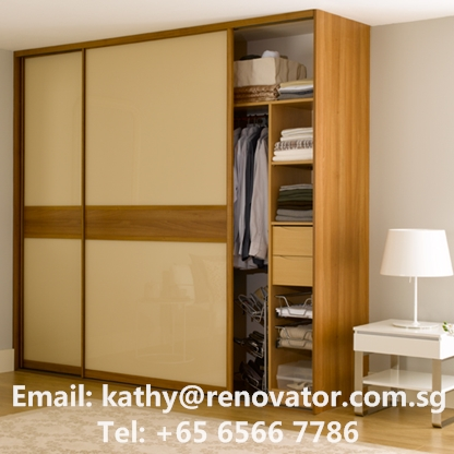 Custom made assembled sliding door panel wardrobe