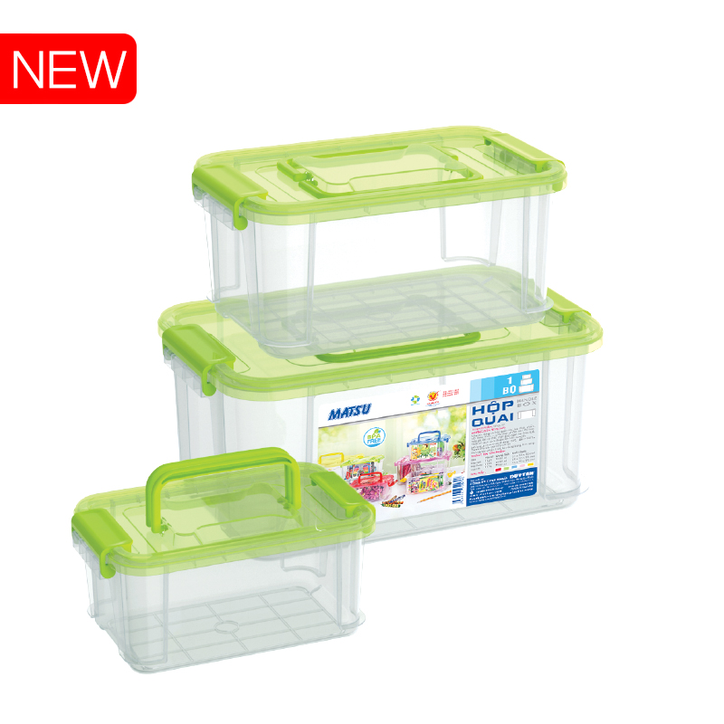 PLASTIC RECTANGLE CONTAINER SET#Duy Tan Plastic Corp
