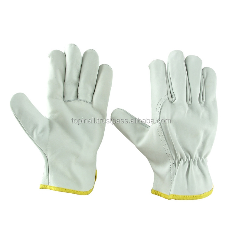Comfortable Material Industry Cow Leather Safety Welding Rigger Men Work Gloves