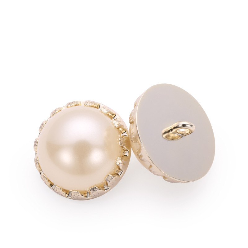 Fancy half round pearl shank button for coat