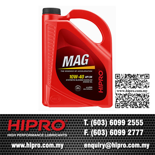 HIPRO Hot Selling Mag Semi Synthetic 10W40 Gasoline Engine Oil