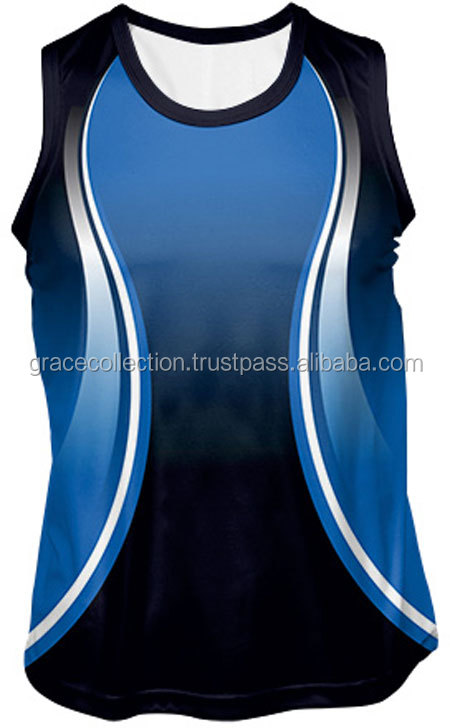 New Arrival Trainer Hot Sexy Sublimated Unisex Tank Top Sport Singlet