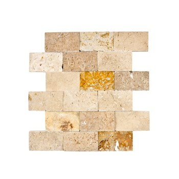 Best Price Natural Stone 5x10 cm Mixed (yellow-light-noce) Travertine Marble Tiles