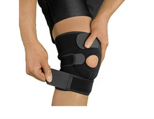 Knee Brace Support Open-Patella Stabilizer with Adjustable Strapping & Extra-Thick Breathable Neoprene Sleeve.