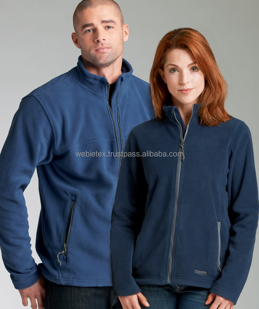 Men's and Ladies Polar Fleece Jackets With Custom Design