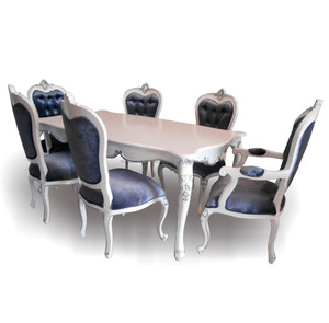 French Furniture Dining Room Set - 6 Chairs Dining Table Set Indonesia Furniture .