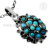Incredible - look designer silver pendant turquoise gemstone jewelry 925 sterling silver pendants online jewellery exporter