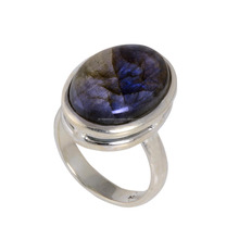 High Trending labradorite gemstone 925 sterling silver jewelry fashion wholesale silver ring jewelry