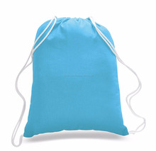 Promotion Custom Printed Shopping Plain Cotton Drawstring bags