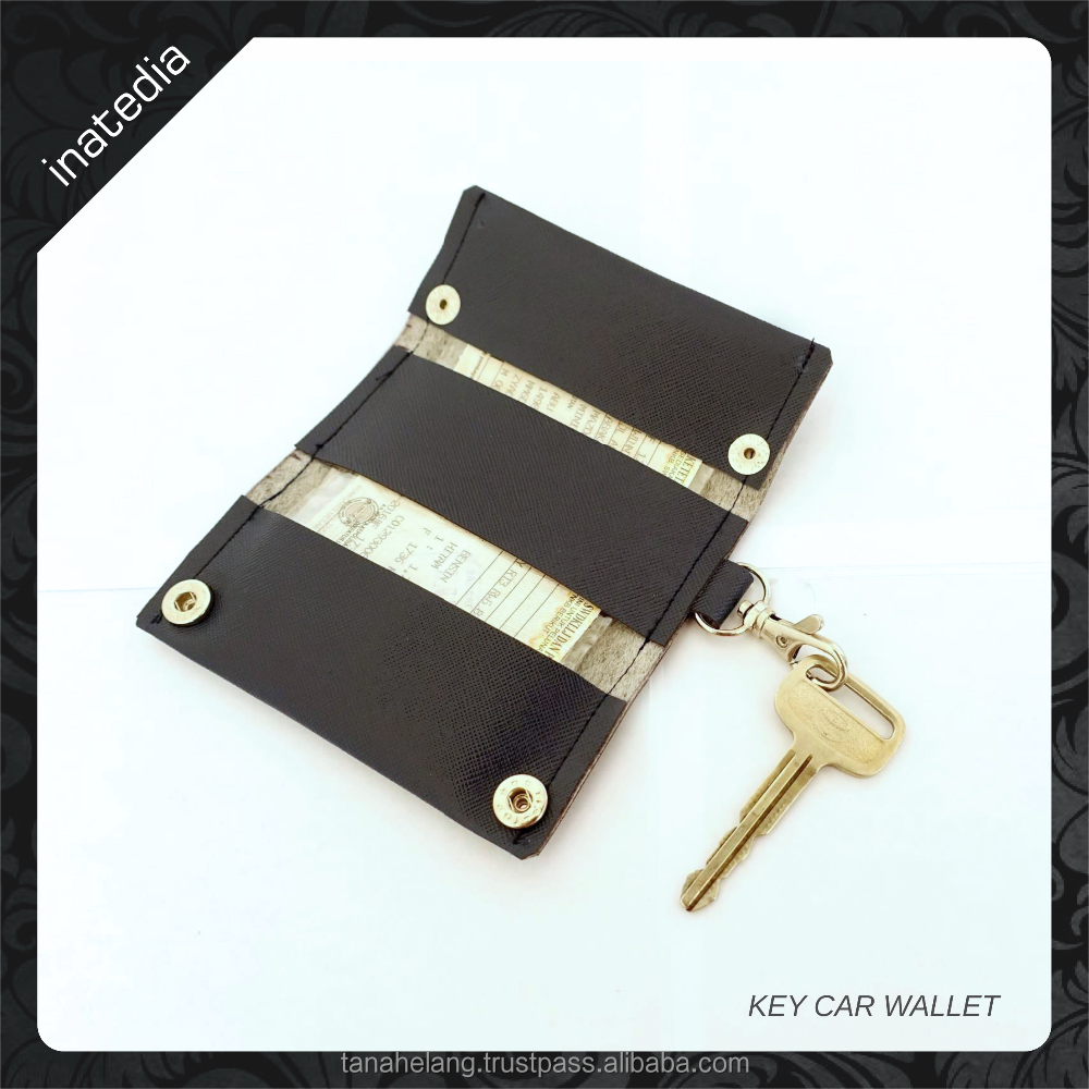 Fashion Saffiano Leather Car Key Wallet