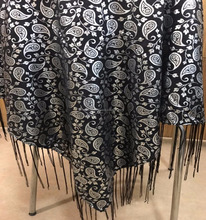 Soft Satin based foil printed Church Scarf with Fringes for Oregon & Alaska