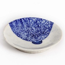 Handicraft decorative plate Blue and white Blue pottery