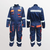 COVERALL, European Style, 240 GSM, CE Approved, Elastic Back with Reflective Tape