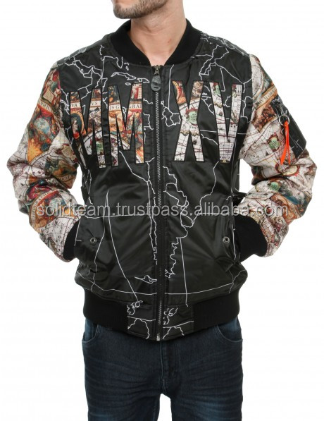 All Over Digital Sublimation Printed Bomber Jacket Streetwear Fashion Bomber Jackets