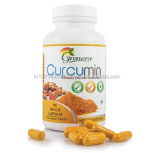 Organic Curcumin Capsules with Piperine- Herbal Dietary Supplement