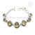 Shiny citrine gemstone bracelet handmade jaipur 925 sterling silver jewelry wholesaler