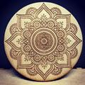 Arabic Design Wooden Laser Engrave Coaster Set of 5 Different Flowers