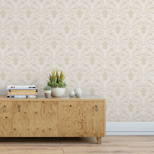 3d Mural Wallpaper - Velvet -Floral Damask Design - Home decoration