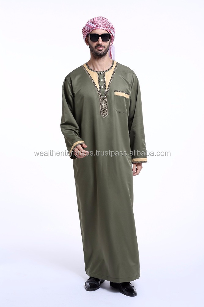 Dishdasha Islamic Arab Kaftan for adults/Embroidered dishdasha for men's