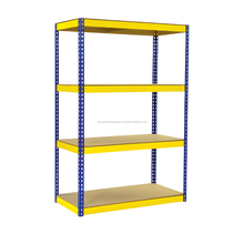 Yellow & Blue Adjustable Shelve Metal Storage Rack Boltless shelving racking systems display rack