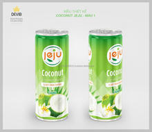 240ml Pure Coconut Water form big manufacturer in Viet Nam