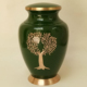 GREEN TREE OF LIFE ADULT BRASS CREMATION URN