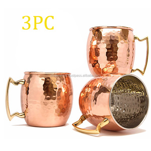 Custom Wholesale Moscow mule 100% copper mug