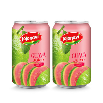 Natural guava juice Wholesale canned fruit juice 330ml JOJONAVI beverage brands
