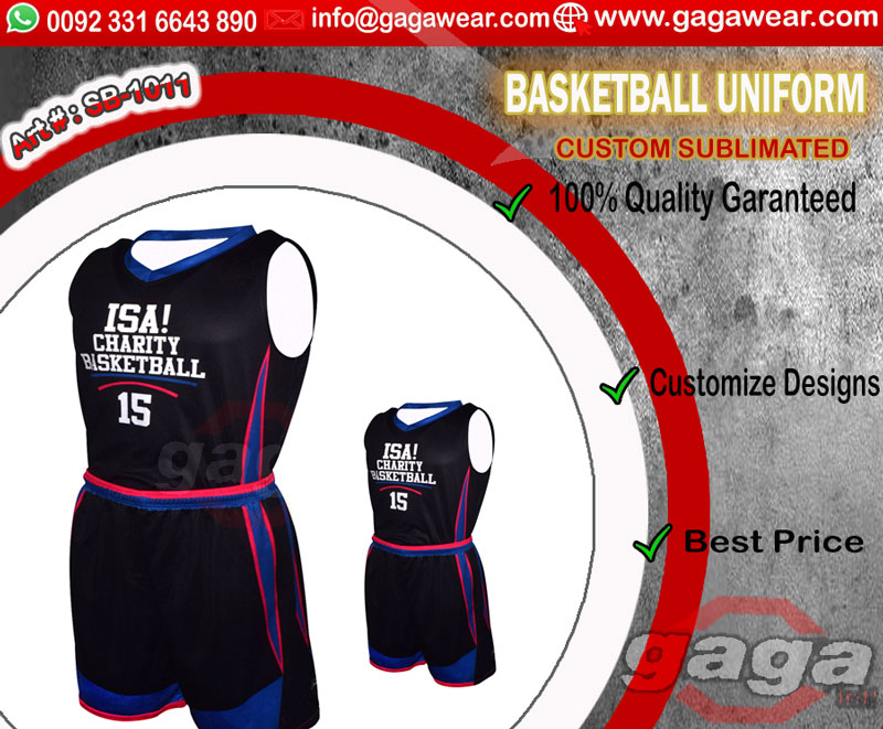 Sublimation printed Basketball Uniforms