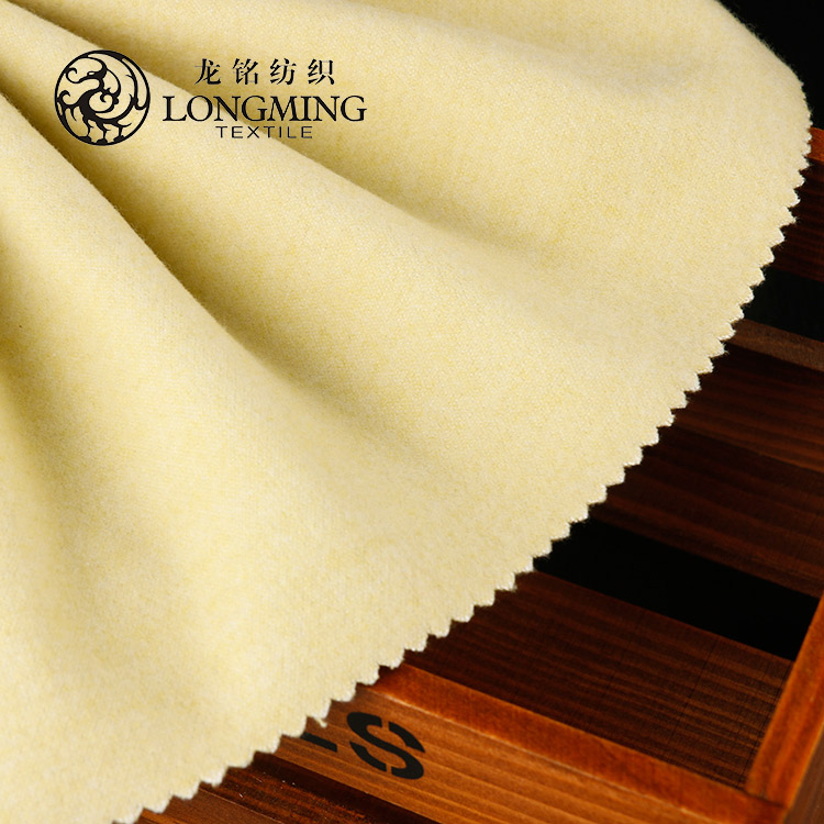 Wholesale soft feel 100% polyester imitation wool double knit fabric