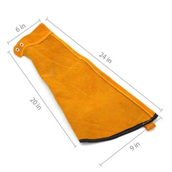 Heat Resistant Long Leather Sleeves