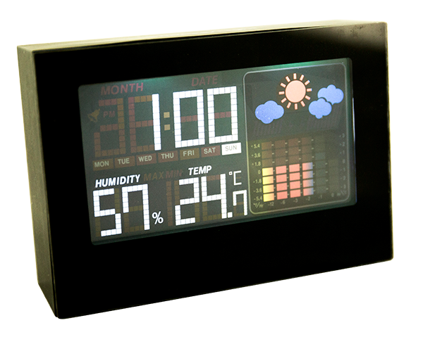 2017 Weather station humidity and thermometer clock